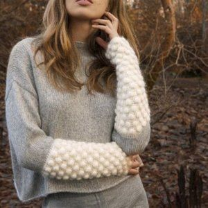 Stella Pardo Priscillien Bubble Sleeve Sweater